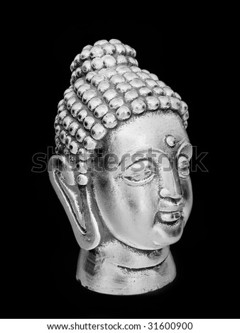iron buddha - stock photo