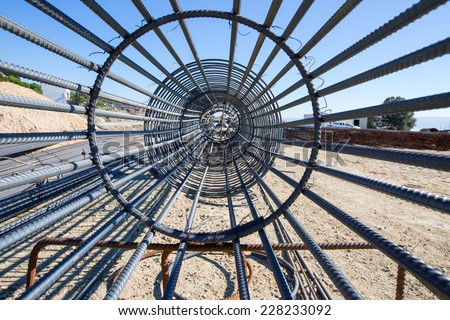 iron cage  - stock photo