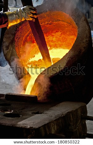Iron casting - stock photo