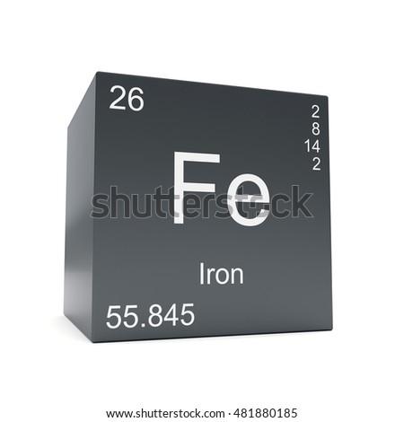 Iron Chemical Element Symbol Periodic Table Stock Illustration