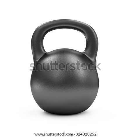 Iron Dumbbell Isolated on white background. Sport and Recreation Concept. - stock photo
