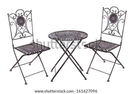 Iron furniture, suite - stock photo