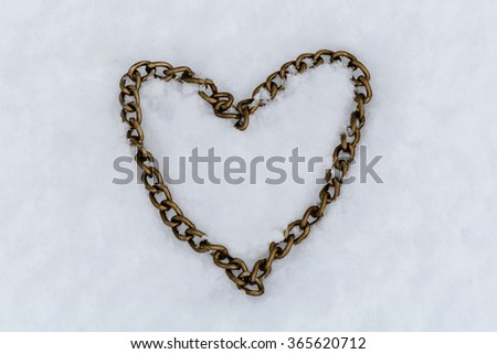 Iron Heart on the snow