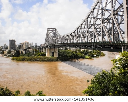 Iron History bridge in Brisbane of Queenland,Australia. - stock photo