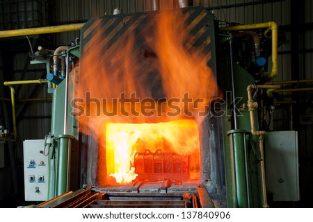 Iron Manufacturing - stock photo