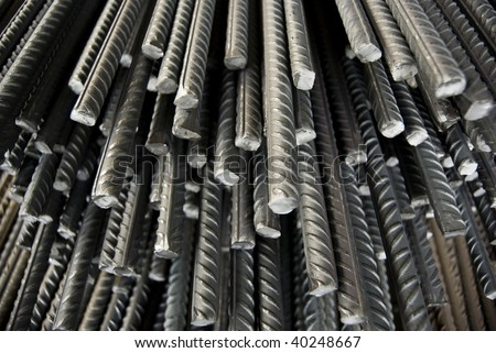Iron Material, reinforced concrete, steel - stock photo
