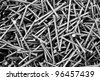 Iron nails - stock photo