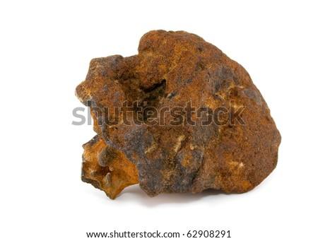 Iron ore - ferruterous sandstone. - stock photo