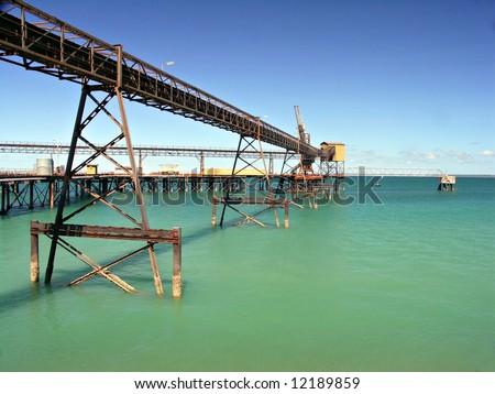 Iron Ore Pier - Darwin - stock photo