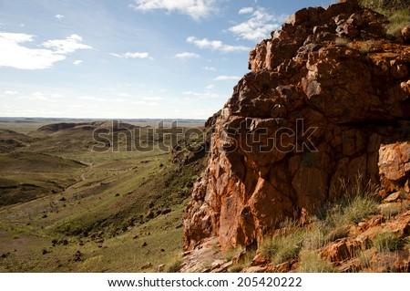Iron Ore Prospects - Australian Outback � Pilbara - stock photo