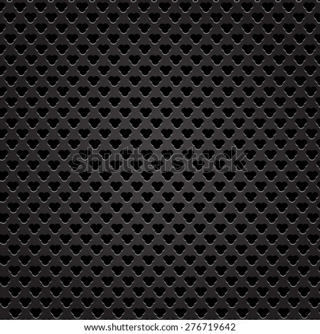Iron Perforated Texture. Dark Metal Perforated Background.