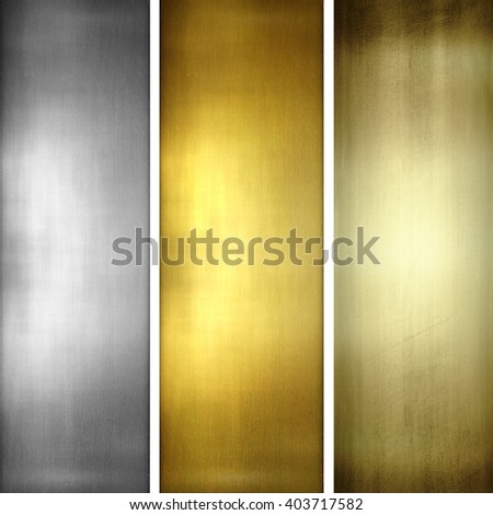 iron plate - collection of gold textures - stock photo