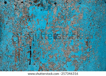 Iron plate with paint chips texture. - stock photo
