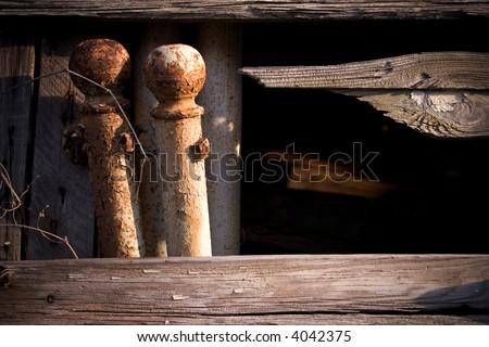 iron posts - stock photo