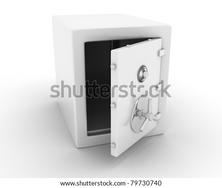 iron safe - stock photo