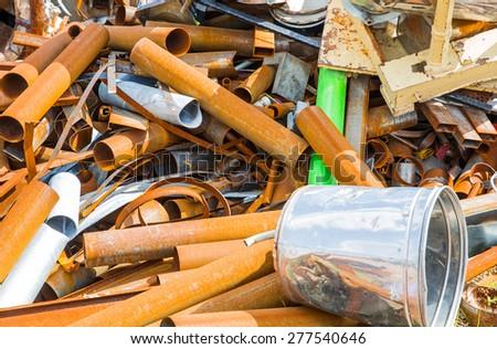 iron scrap material - stock photo