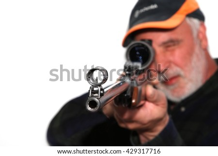 Iron sights - stock photo