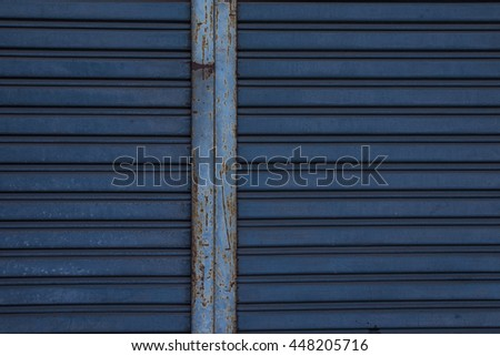iron sliding door