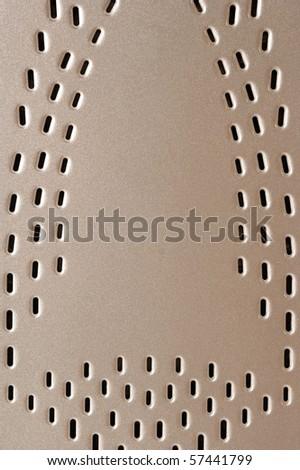 Iron soleplate close - stock photo