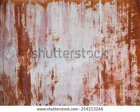 Iron surface rust - stock photo