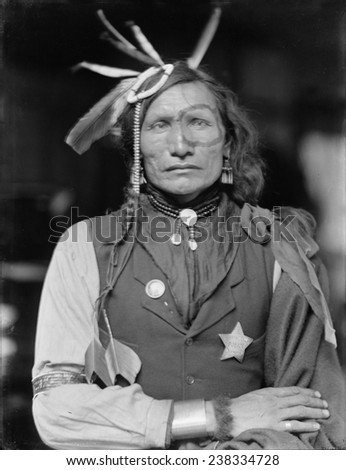 Iron white man a native american man of the sioux tribe probably a member