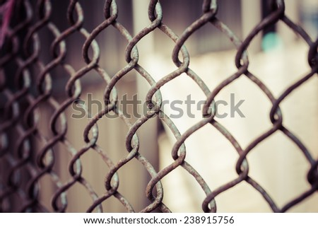 iron wire fence DOF, process color