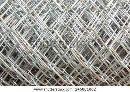 Iron wire fence texture - stock photo