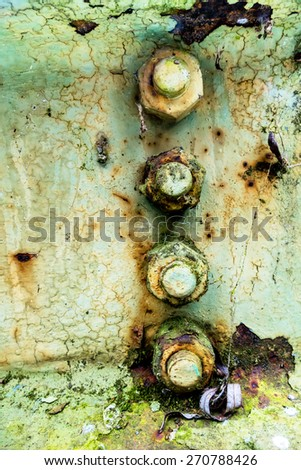 iron with rust traces, symbol of decay, damage, transience - stock photo