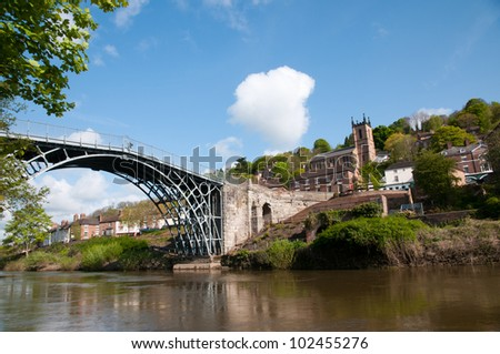 Ironbridge over the river Severn in Telford, England - stock photo