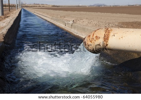 Irrigation Canal - stock photo