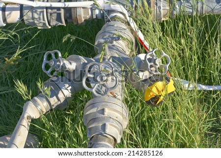 Irrigation Pipes for Water and Environmental Conservation  - stock photo