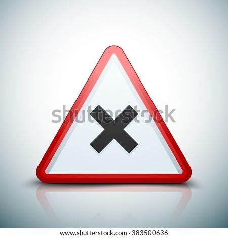 Irritant hazard sign - stock photo