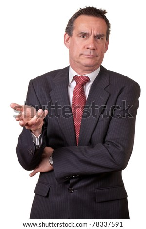 Irritated and Annoyed Middle Age Business Man in Suit