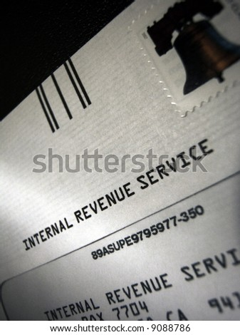 IRS tax envelope - stock photo
