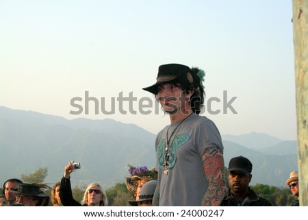 IRWINDALE, CA - May 10: Tommy Lee visits the Renaissance Pleasure Faire in Irwindale, CA on May 10, 2008. - stock photo