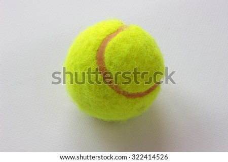 is a tennis ball close up