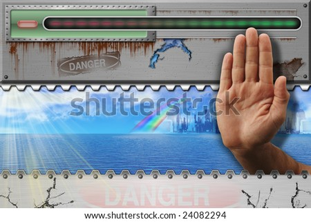 Is not present to war. The Iron Curtain. - stock photo