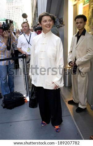 Isabella Rossellini at DEDICATION OR THE STUFF OF DREAMS Opening Night, 59E59 Theaters, New York, NY, August 18, 2005
