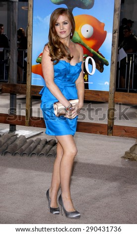 Isla Fisher at the Los Angeles premiere of 'Rango' held at the Regency Village Theatre in Westwood on February 14, 2011.