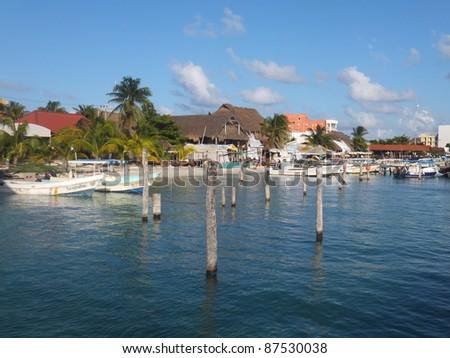 Isla Mujeres in Mexico - stock photo