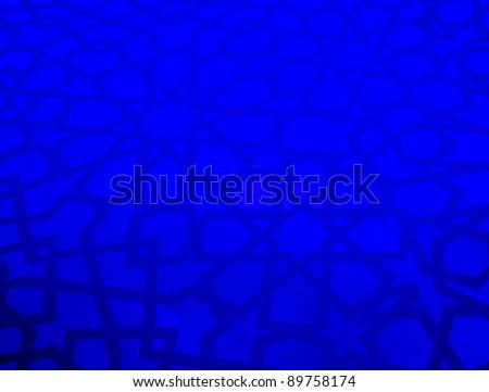 Islamic Geometric Wall Pattern - stock photo