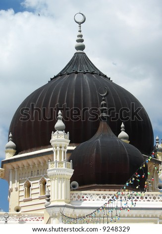 Islamic Mosque Dome,closeup - stock photo