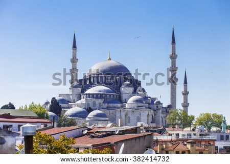 Islamic mosque in Istanbul, Turkey