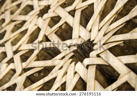 Islamic star pattern  - stock photo