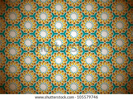 Islamic Wallpaper Design - stock photo