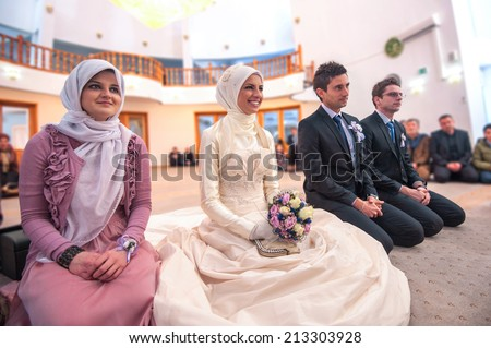 Islamic wedding ceremony mosque stock photo 213303928 shutterstock islamic wedding ceremony at mosque junglespirit Image collections