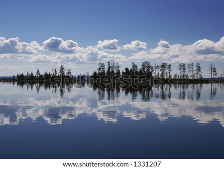 island and reflections