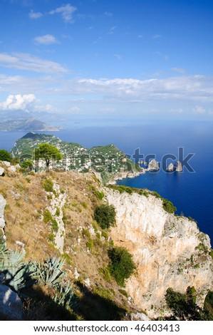 Island of Capri Coastline - stock photo