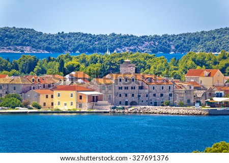 Island of Krapanj waterfront view, Dalmatia, Croatia