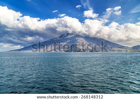Island of Samothraki in Aegean Sea Greece - stock photo